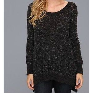 Free People Black Jeepster Pullover Sweater XS